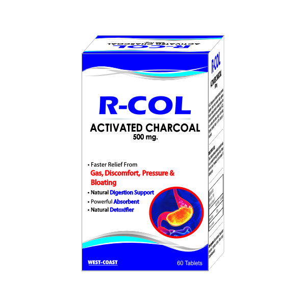 RCOL-500 ACTIVATED CHARCOAL TABLETS  500 MG