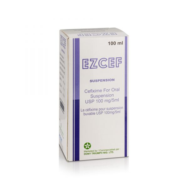 Cefixime for oral suspension 100mg5ml (Ezcef)