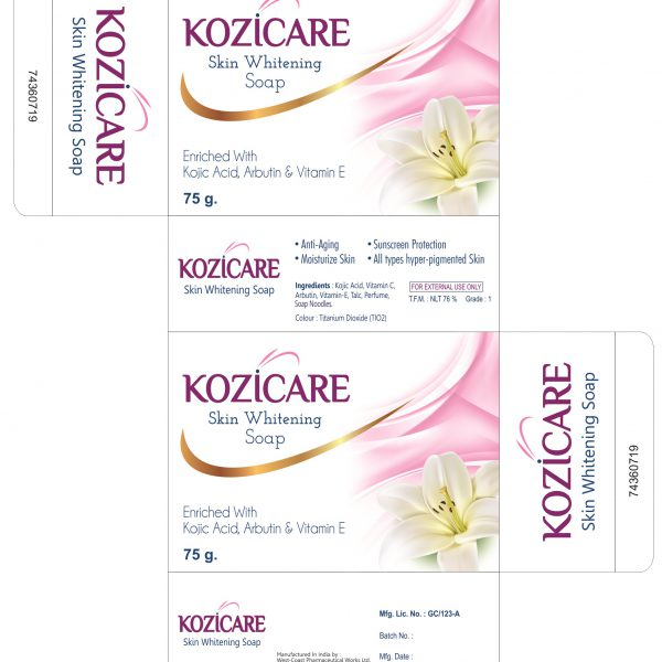 Kozicare Skin whitening soap BOX