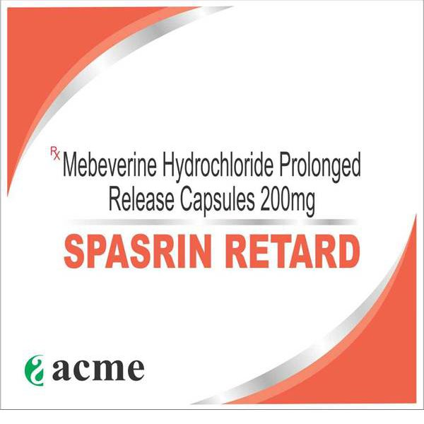 MEBEVERINE HYDROCHLORIDE PROLONGED RELEASE CAPSULES 200 MG