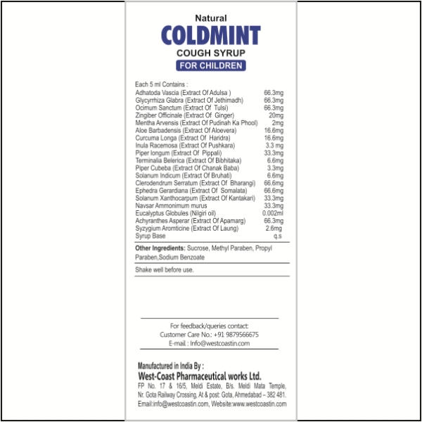 COLDMINT COUGH SYRUP For-CH.