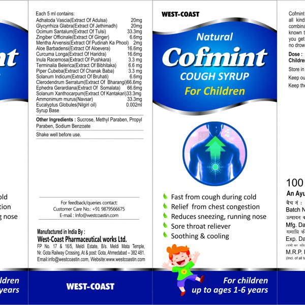 cofmint cough syrup for childre