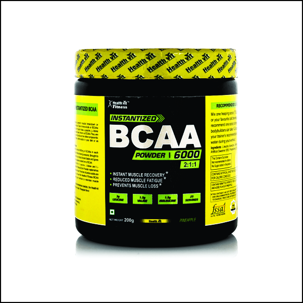 BCAA 6000, 200g (25 Servings) Pineapple Flavour