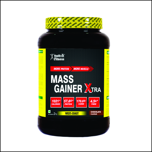 Mass Gainer Xtra Chocolate Flavour 2kg 4.4 lbs