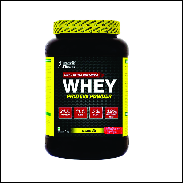 Whey Protein - 1kg2.2lbs ( Strawberry Flavour)