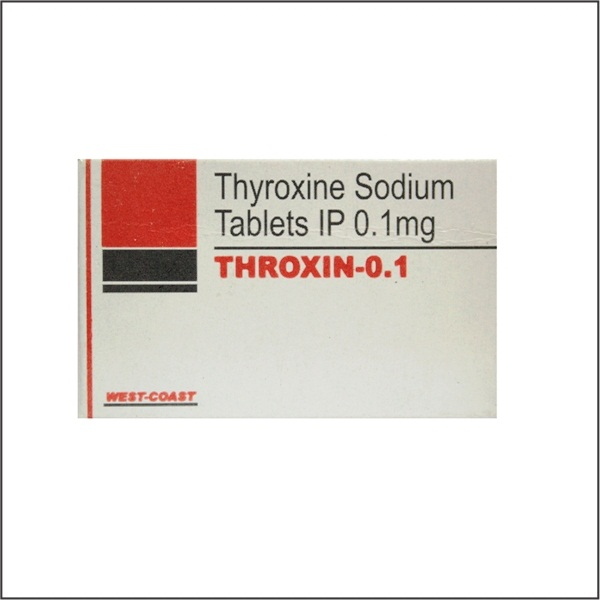 Throxin 0 1 Thyroxine Sodium Tablets Ip 0 1 Mg West Coast