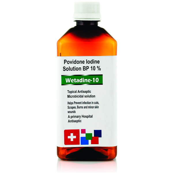 WETADINE-10 (POVIDONE IODINE SOLUTION BP 10%) – West Coast