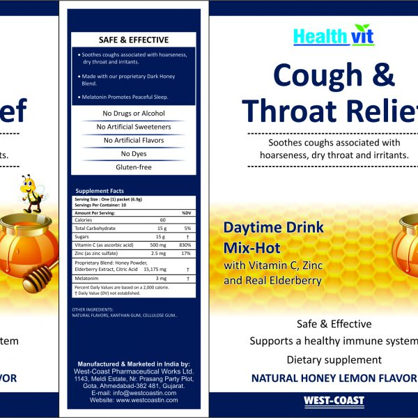 cough & Throat relief lemon