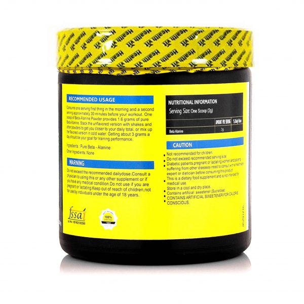 Fitness Beta-Alanine Pre-Workout 200 gm (0.44lbs ) Powder, Unflavoured-2