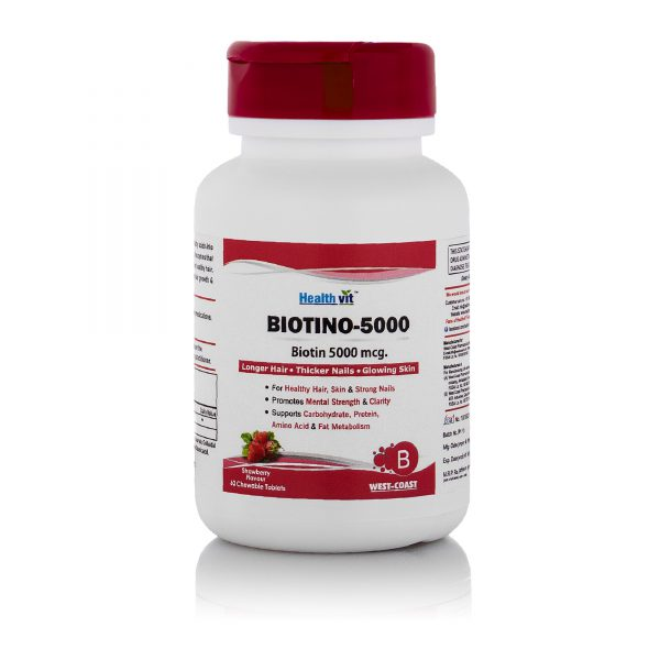 Healthvit-Biotin-5000mcg-For-Longer-Hair-Thicker-Nails-Glowing-Skin-Strawberry-Flavored-60-Chewable-Tablets-1