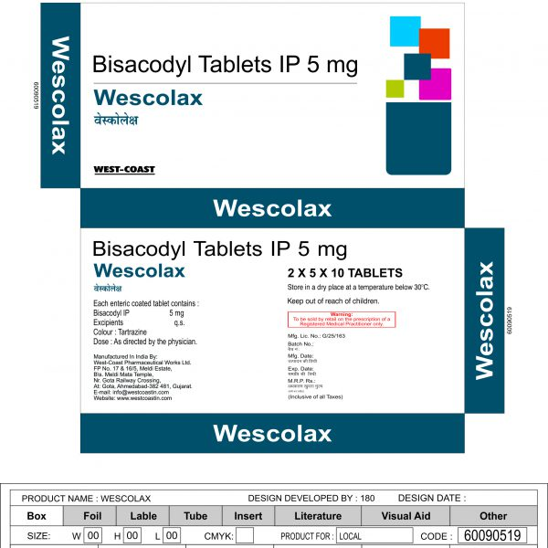 WESCOLAX TABLET BOX