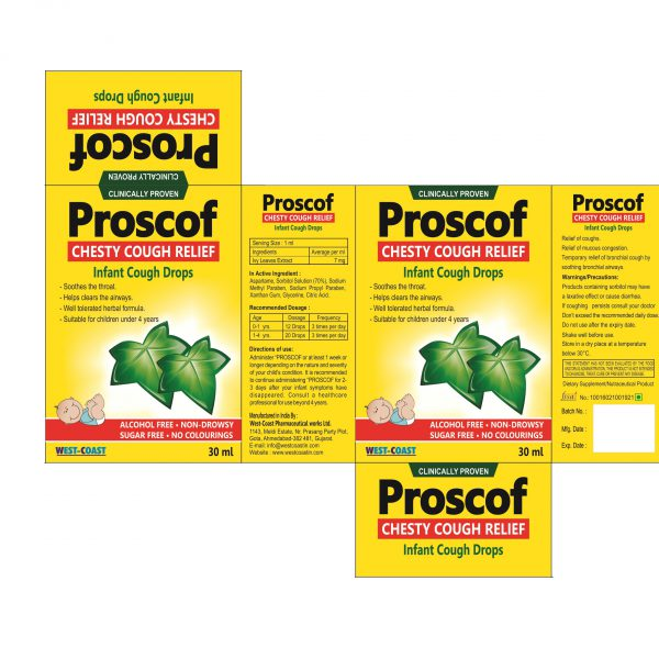 PROSCOF CHESTY COUGH RELIFE-INFANT COUGH DROPS BOX