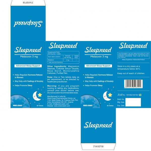 SLEEPNEED-3MG ADVANCED SLEEP SUPPORT BOX