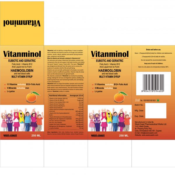 VITANMINOL MULTIVITAMIN SYRUP BOX